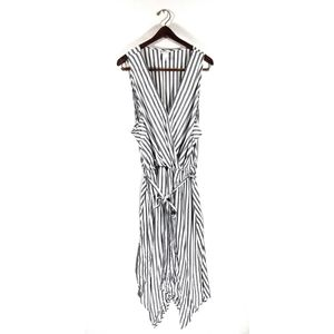 Ava & Viv Pinstripe Surplice Dress Size 3X